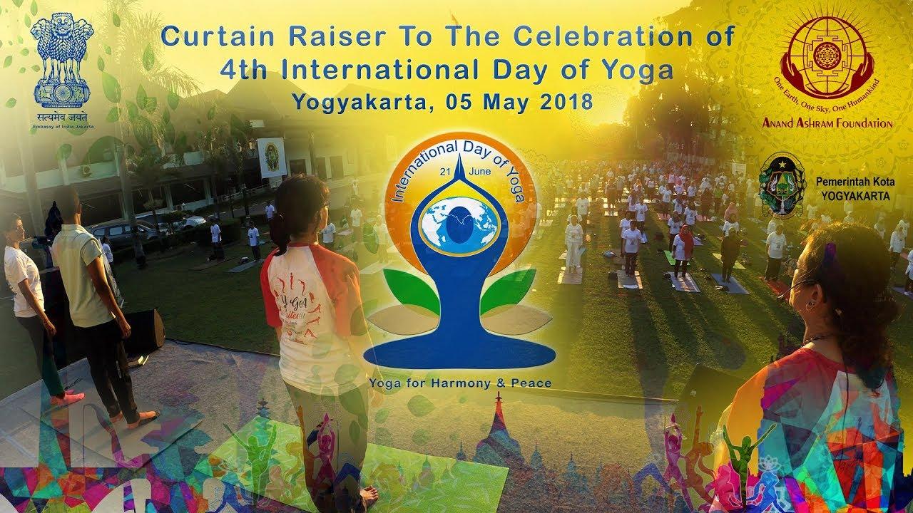 Curtain Raiser to The Celebration of 4th International Day of Yoga, Yogyakarta